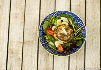 Salat mit dicken Bohnen und Ziegenkäse
