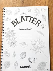 Blättersammelbuch für den Herbst mit Kindern