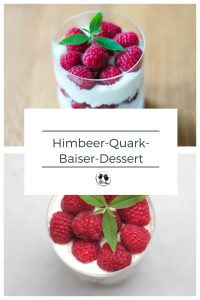 Himbeer-Quark-Baiser-Dessert