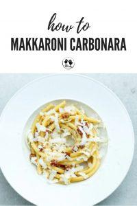 Makkaroni Carbonara - Ein schneller und einfacher Klassiker