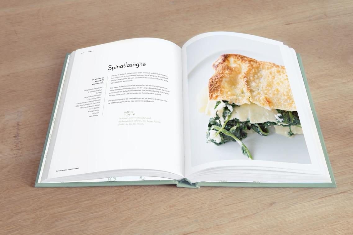 Unser Kochbuch- Wie bei Luna- Die Rezeptseiten