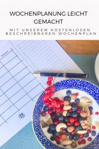 Essensplanung leicht gemacht- Unser beschreibbarer Wochenplan