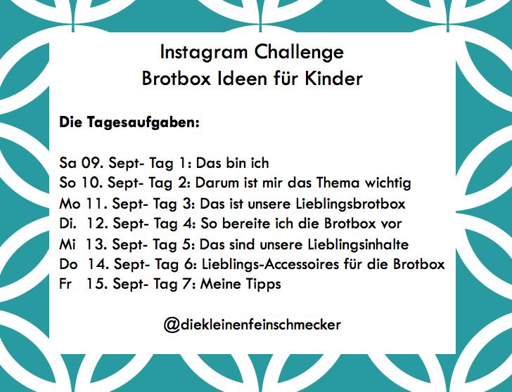 Instagram Challenge Brotbox Ideen