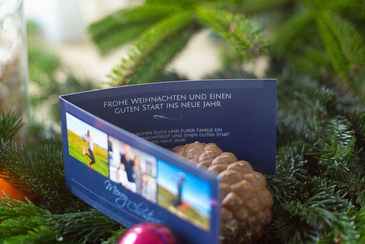 Weihnachtskarten mit Foto selbst gestalten