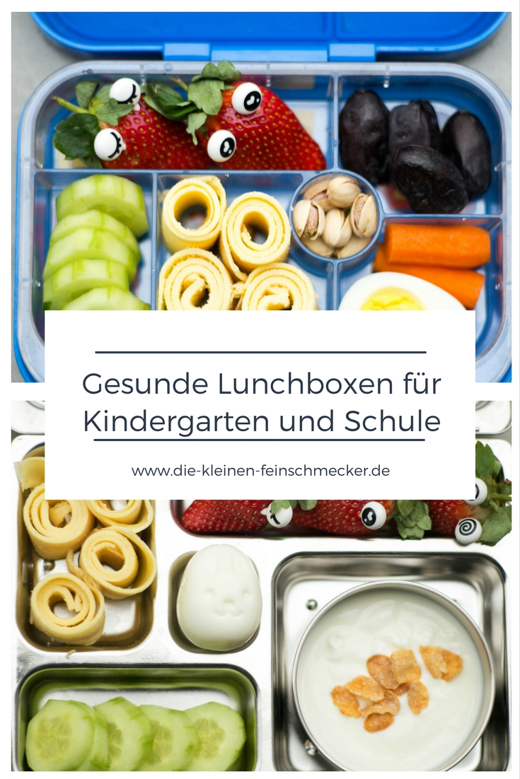 gesunde lunchbox f r kindergarten und schule die kleinen feinschmecker. Black Bedroom Furniture Sets. Home Design Ideas
