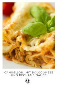 Leckere Cannelloni mit Bolognese