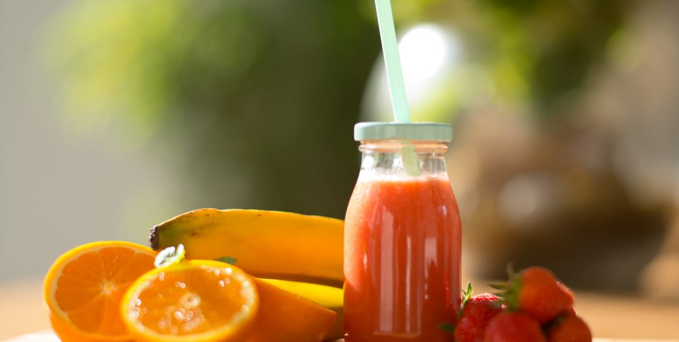 Orangen- Erdbeer- Bananen Smoothie