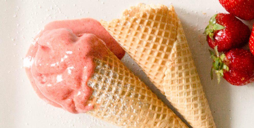 Erdbeer Joghurt Eis Ohne Eismaschine Die Kleinen Feinschmecker