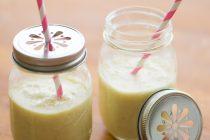 Selbst gemachte Bananenmilch