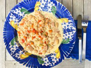 Bohnensuppe mit Lyoner