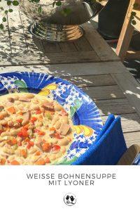 Weisse Bohnensuppe mit Lyoner