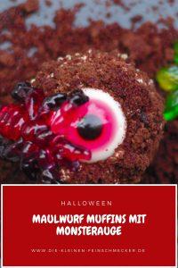 Maulwurf-Muffins mit Monsteraugen