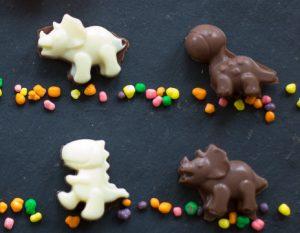 Selbst gemachte Dino Schokolade