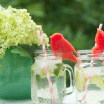 Limetten Holunder Limonade