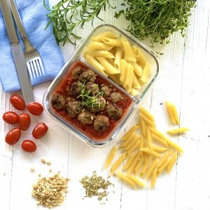 Mediterrane Hackbällchen für die Lunchbox