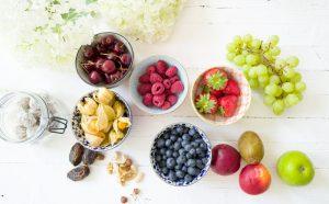 Obst der Saison für Lunchboxen