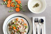 Reis-Hackfleisch-Pfanne mit Gemüse
