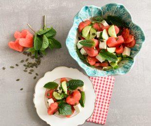 Wassermelone-Feta-Salat-mit-Minze