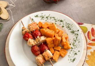 Lachs-Spieße mit Süßkartoffeln_